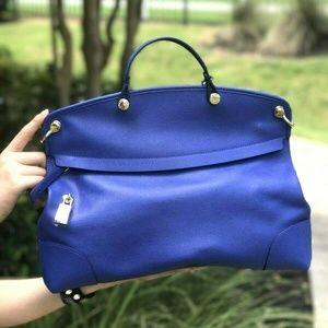 Furla Piper LG Leather Crossbody Bag Indigo Blue